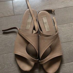 Vegan Leather Stella McCartney tan sandals sz 9.5